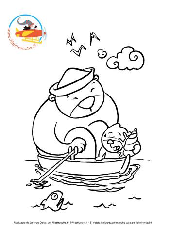 » Disegni da colorare: orsacchiotti in barca