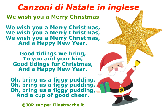 Where there is light, there is hope. Canzoni Di Natale In Inglese Natale Su Filastrocche It