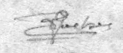 Stamp experts marks, areas F--G. Philatelistische Prüfer.