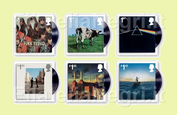 Pink Floyd Stamp Set