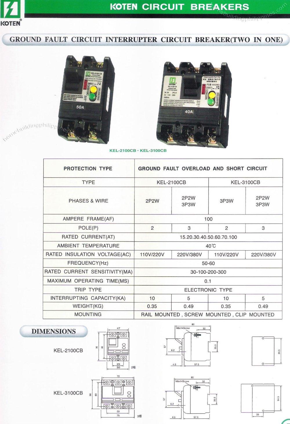 medium resolution of koten ground fault circuit interrupter circuit breaker koten ground fault circuit interrupter circuit breaker