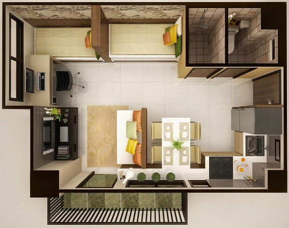tiled kitchen floors equipment for sale cebu real estate: condos sale/rent at mabolo garden ...