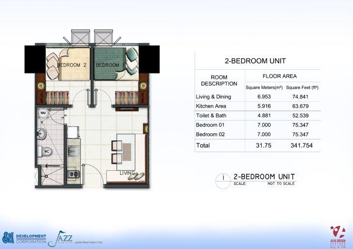 Condo Sale at Jazz Residences Condominium Unit Floor Plans