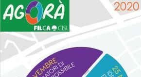 """""""AGORA' FILCA"""": IL 23, 25 E 27 NOVEMBRE TRE GIORNI DI APPROFONDIMENTO, CONFRONTO ED ELABORAZIONE"""