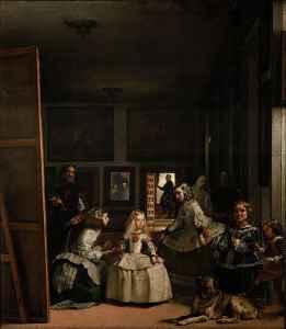 """Velázquez pintó """"Las meninas"""" en 1656. Hoy esta obra maestra de la pintura española y universal se encuentra en el Museo del Prado, de Madrid (España)."""