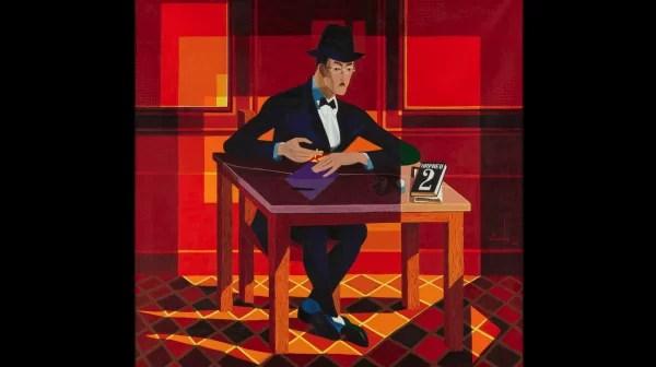 Retrato de Fernando Pessoa, 1964, de José de Almada Negreiros. Museu Calouste Gulbekian © Almada Negreiros VEGAP, MAdrid 2017.