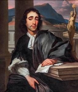Retrato de Baruch Spinoza de 1666.