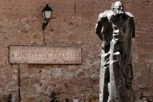 Estatua de Miguel de Unamuno en Salamanca. (CC BY 2.0).