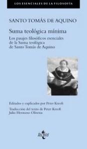 """""""Suma teológica mínima (fragmentos esenciales)"""", de Tomás de Aquino (Tecnos)"""