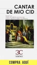 """""""Cantar de Mio Cid"""", obra anónima, en edición de Castalia."""