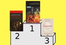 """Estos son los libros que ocupan los tres primeros puestos en lo que se refiere a ventas en este último año: """"La sociedad del cansancio"""", de Byung-Chul Han; """"La penúltima bondad"""", de Josep Maria Esquirol; y """"Sapiens"""", de Yuval Noah Harari."""