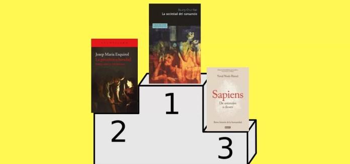 Estos son los libros que ocupan los tres primeros puestos en lo que se refiere a ventas en este último año: