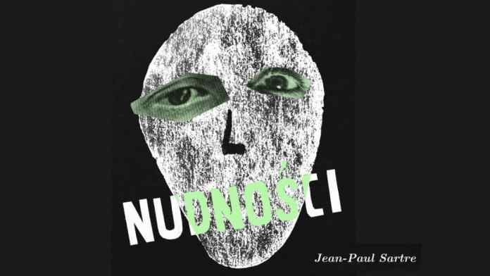 En polaco, nudnosci significa asco. Diseño hecho con una imagen de Flickr. Will. Cash Askew, Nausea (entry for the 50 Watts' Polish Book Cover Contest). Bajo licencia Creative Commons Attribution 2.0 Generic (CC BY 2.0).