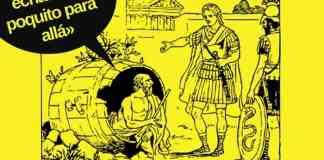 La imagen (a partir de un archivo en pixabay) recrea el encuentro de Diógenes con Alejandro Magno. El rey se ofreció a darle a Diógenes lo que quisiera... El filósofo solo pedía seguir yaciendo al sol.