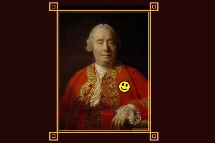 Imagen a partir del retrato clásico de David Hume (1766) por Allan Ramsay, en la Scottish National Gallery, Edimburgo.