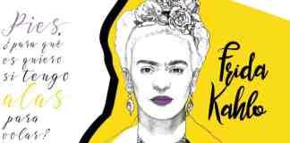 La pintora mexicana Frida Kahlo nació en 1907 y murió en 1954. El dibujo es un diseño de Filosofers.