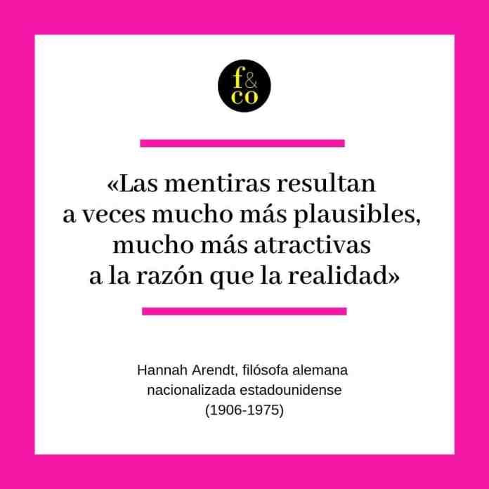 Frase filosófica Hannah Arendt