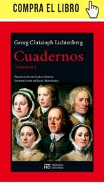 Primer tomo de Cuadernos, de Lichtenberg, en Hermida.