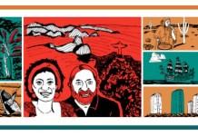 Imagen hecha a partir del cartel del I Congreso Internacional de Estudios Latinoamericanos & del Caribe diseñado por Catalina Ramírez. Las ilustraciones son de Miguel León y han sido cedidas para este evento.