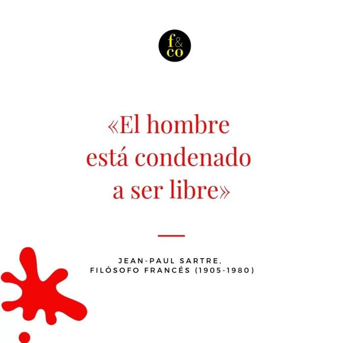 Frase filosófica Sartre