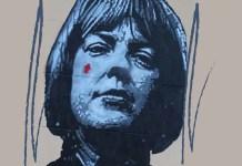 Ingeborg Bachmann en un grafitti por Jeff Aerosol en el Robert Musil Museum en Klagenfurt. Imagen distribuida por Wikipedia bajo la licencia Creative Commons Dedicación de Dominio Público CC0 1.0 Universal.