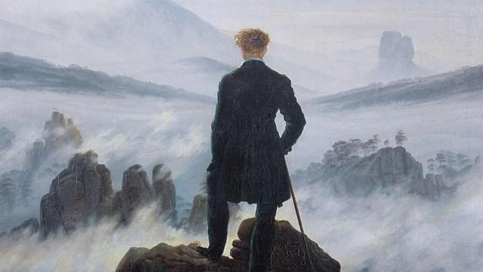 Romanticismo. Fragmento de «El caminante sobre el mar de niebla», de Caspar David Friedrich. Distribuida por Wikimedia Commons en dominio público.