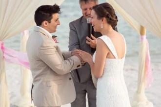 ring exchange on beach wedding in key west florida