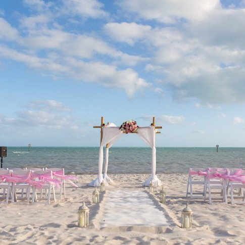 beach ceremony set up in key west florida