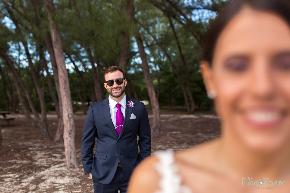 portrait of groom at fort zachary in key west, florida