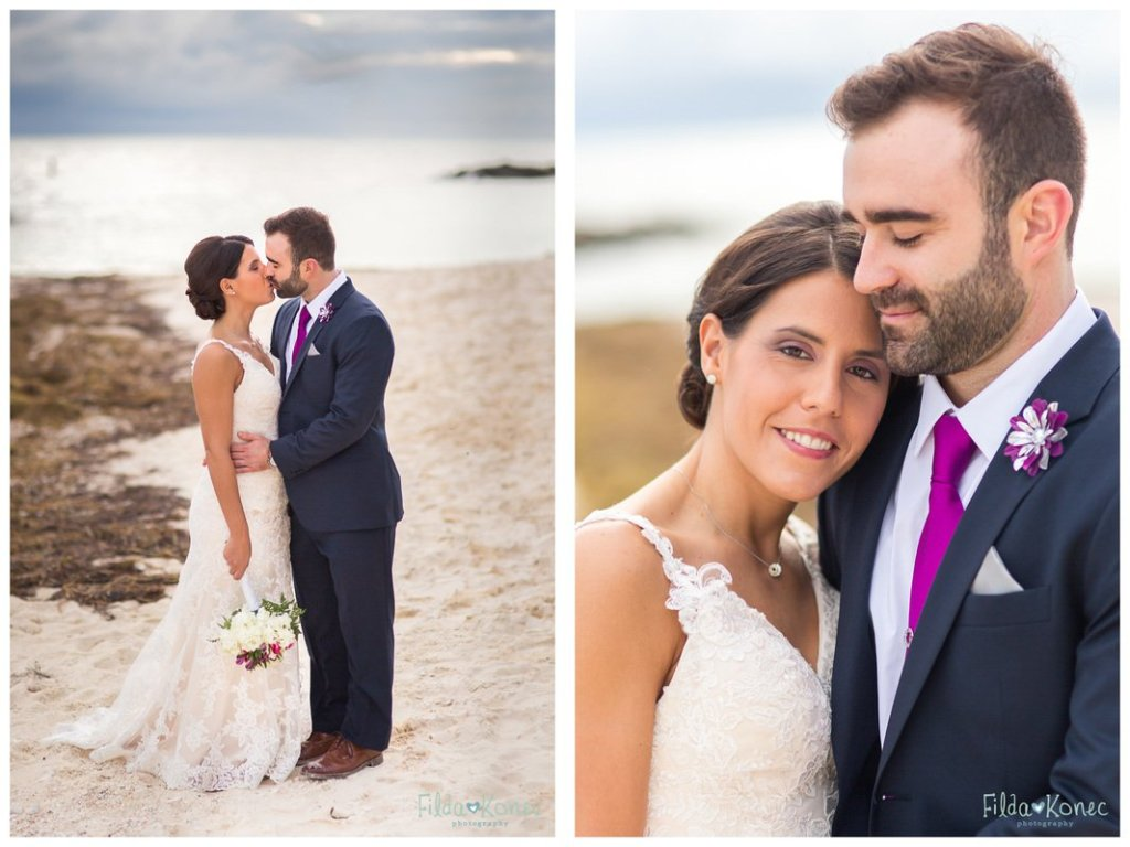 wedding photograph of wedding couple at fort zachary taylor beach in key west, florida