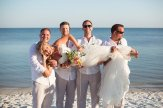 funny photo of the bride with guys
