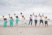 mandatory jumping photo with bridal party