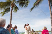 first kiss at beach ceremony