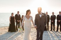 recessional from the beach ceremony