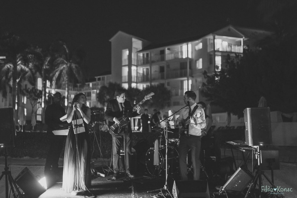 kings bay band plays at the reach resort in key west florida