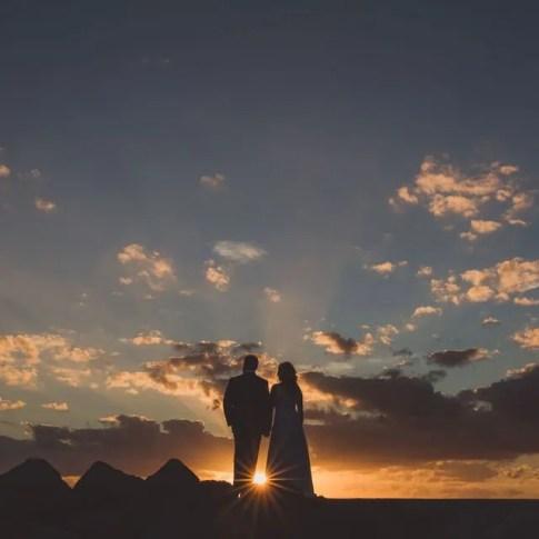 sunset photo of key west wedding