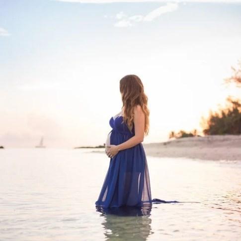 maternity photograph on key west beach