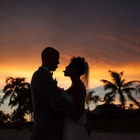 sunset photo of key west wedding on the beach