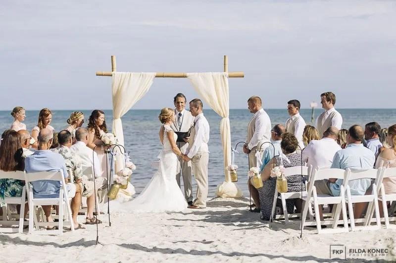 beach wedding ceremony in key west