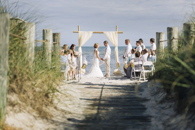 beach wedding photograph from key west florida