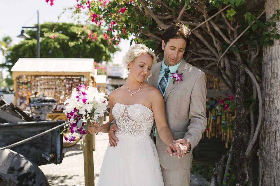 wedding photo from downtown key west