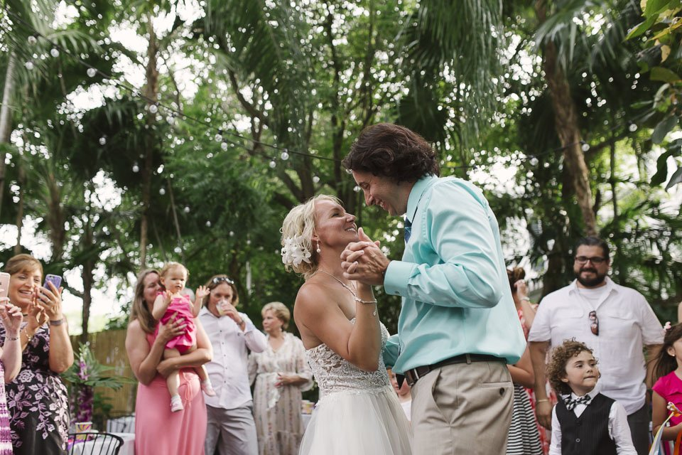 couple dances on their key west wedding at old town manor