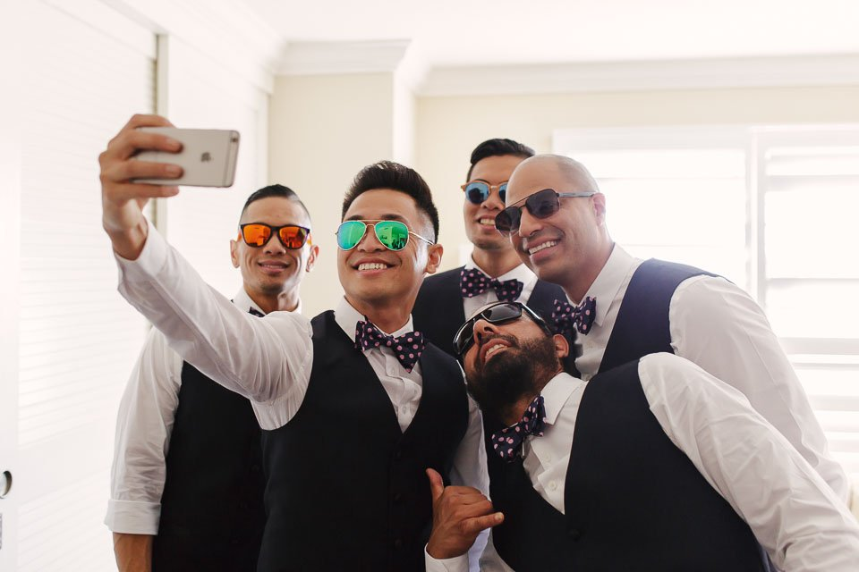 boys taking a selfie