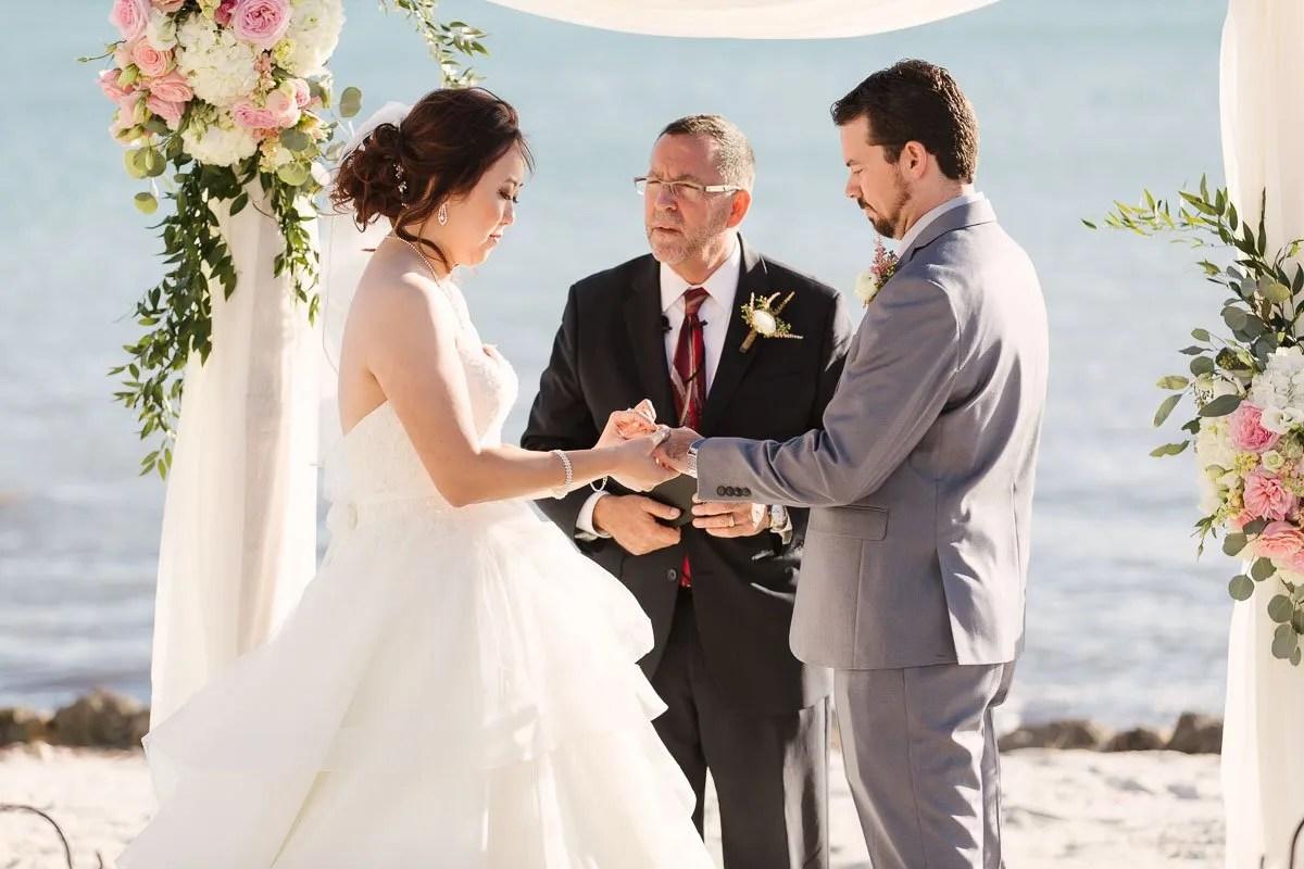 ring exchange at florida keys wedding ceremony