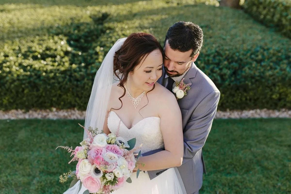 bride and groom at casa marina key west