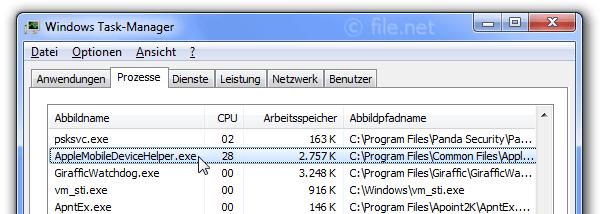 AppleMobileDeviceHelper.exe Windows Prozess - Was ist das?