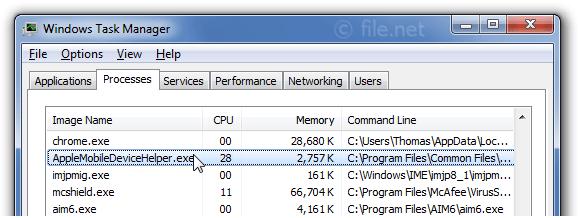 AppleMobileDeviceHelper.exe Windows process - What is it?