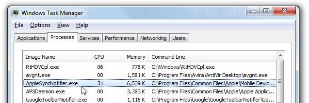 AppleSyncNotifier.exe Windows process - What is it?