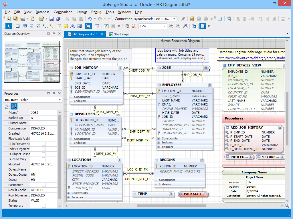 dbForge Studio for Oracle 39  Database Software