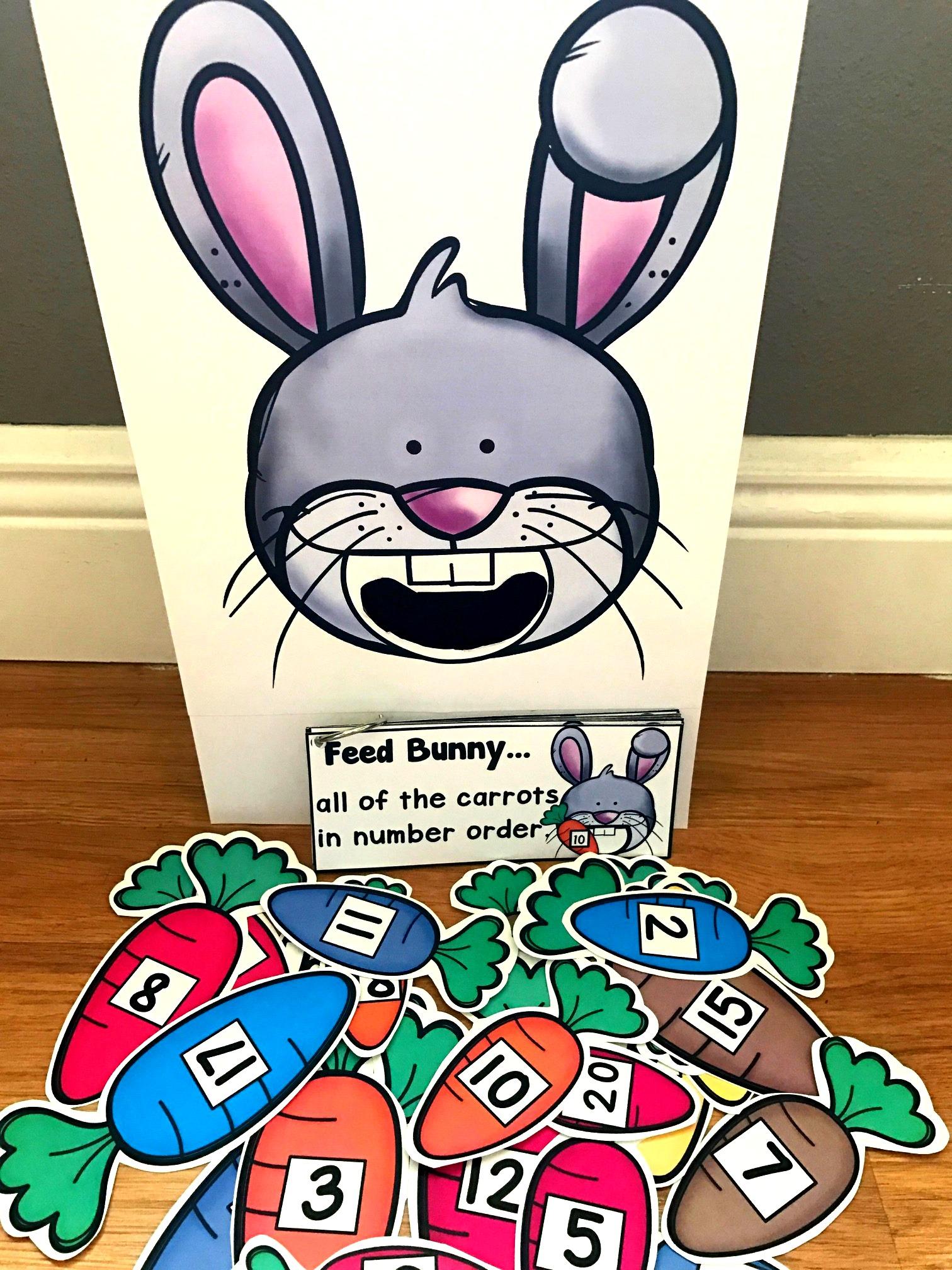 Sensory Bin Activities Feed Bunny Activities
